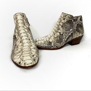 Sam Edelman | Snakeskin Leather Petty Ankle Boots